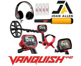MINELAB VANQUISH 440 CHRISTMAS OFFER WITH PRO FIND 15 PINPOINT PROBE