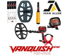 MINELAB VANQUISH 540 PRO PACK CHRISTMAS OFFER WITH PRO FIND 20 PINPOINT PROBE