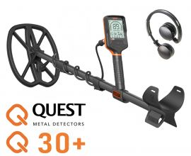 QUEST Q30 PLUS METAL DETECTOR WITH FREE XPOINTER PROBE