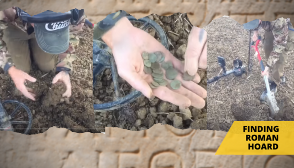 Recovering a scattered Roman hoard